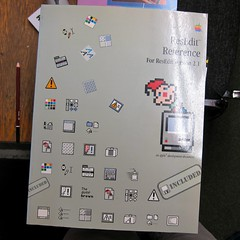 Apple, ResEdit Reference (Damian Cugley) Tags: summer england book retro cover oxford bookshop oxfam computerhistory applemacintosh oxfambookshop macos8 2013 dustbinofhistory