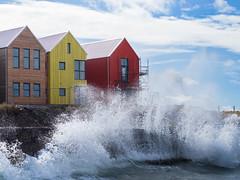 Wavefront Appartment (Magic Pea) Tags: houses sea water photography scotland photo crash wave splash caithness johnogroats magicpea