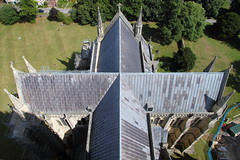 Salisbury Cathedral - East (blacksplat) Tags: roof tower architecture canon cathedral east spire salisbury transept