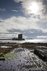 Castle Stalker (DMeadows) Tags: sky seaweed castle film beach clouds island coast scotland location historic holy coastal stalker python finale grail fortress monty appin aaargh davidmeadows dmeadows davidameadows dameadows