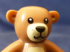 Teddy bear (luke.woodman) Tags: bear face toy toys lego teddy cuddly minifigure minifigures
