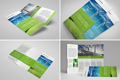 Tri-Fold Brochure 12 (Demorfoza) Tags: green mill print design three energy graphic wind free save fresh fold tri leaflet brochure eco template pamphlet trifold threefold trifolder