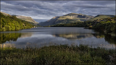 Mount Snowdon from Llyn Padarn (Explored) (angeladj1) Tags: snowdonia northwales llynpadarn mountsnowdon