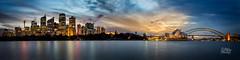 Blush (Mike Hankey.) Tags: city sunset sydney operahouse harbourbridge