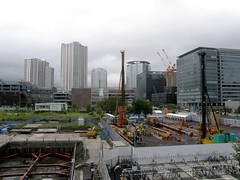 #1922 construction next to station (Nemo's great uncle) Tags: geotagged tokyo  toyosu kotoku   geo:lat=3565439595219079 geo:lon=1397951003909111