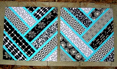 Rocket Blue 3 & 4 (Stephanie @ Simple Sewendipity) Tags: blue white black broken sparkles play quilt crafts block herringbone molli msbhqal