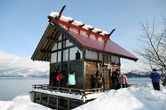 Lake Tazawa, Akita Prefecture, Japan (hjl studio) Tags: lake snow japan landscape skies akita tazawa