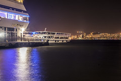 Karsiyaka ferryport. (cihanavc) Tags: street ferry night canon turkey outdoor trkiye streetphotography noflash 5d iskele vapur izmir ksk karyaka feribot krfez 9eyll izmirkrfezi 9eyllkutlamalar