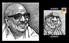 KALAIGNAR PORTRAIT and CARICATURE - Done by Artist Anikartick,Chennai,India (Artist ANIKARTICK,Chennai(T.Subbulapuram VASU)) Tags: newspaper books literature caricature cartoons ktv periyar founder dmk suntv dinakaran sunnews kalaignar tamilbooks sunmusic pattimanram viduthalai kalaignarkarunanithi kalaignartv dmkparty mukastalin unmai annaarivalayam kalaignarnews kalaignararangam vidudalai thandhaiperiyar suyamariyathai thiravidarkalagam annaarivaalayam kalaignararangamartworks kalaignartvprogrammes kalaignarwritings kalaignarportraits kalaignarcaricature murasoli chuttitv kalaignarnovels periyarpinju