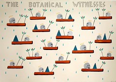 Los testigos de la botánica. Gouache sobre papel acuarela. 2013. med. 70 x 100cm