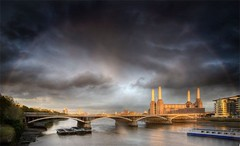 Rainbow! (photographyphotoion) Tags: bridge london station thames rainbow power battersea