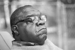 Lens man (DWO630) Tags: old portrait blackandwhite man black lens glasses bokeh africanamerican pentaxk5