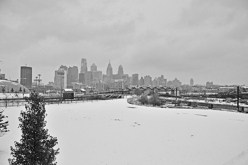 skyline in snow