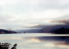 Misty Morning (Banchango) Tags: mist mountains water scotland landscapes highlands earlymorning scenic where views oban 1990 lochs placesyouvisit helpwithlocationrequested
