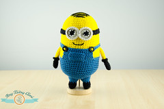 Mini Minion (ItsyBitsyAmi) Tags: blue me yellow movie toy nikon character crochet cartoon plush overalls animation amigurumi helper googles minion d7000 despicabe