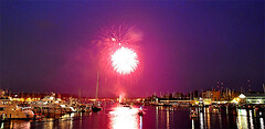 Fireworks (StateMaryland) Tags: new eve reflection creek port marina work boats fire fireworks year 4th july firework maritime anthony years annapolis spa eastport burrows