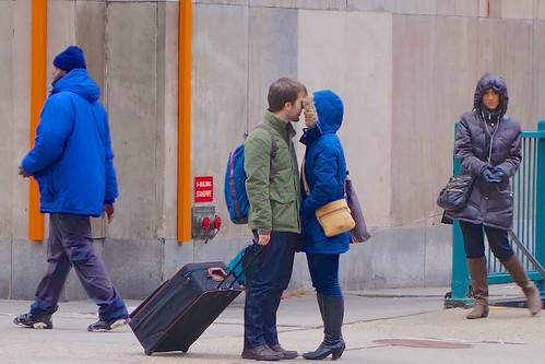 usa ny newyork couple unitedstates boots manhattan suitcase everyblock