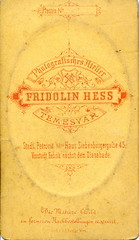 1870s Fridolin Hess (elinor04 thanks for 35,000,000+ views!) Tags: old portrait man vintage de beard typography photo graphics hungary antique label victorian young photograph font cdv cartedevisite backside reverse gentleman embossed visite carte hess verso vintagephoto 1870s fridolin backmark temesvár hessfridolin fridolinhess hungarianvintagephotocollection elinorsvintagephotocollection versob