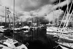 . (Mario M.) Tags: clouds mirror harbour palermo