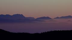 Purple (Robyn Hooz) Tags: trees mountains alberi montagne purple horizon hills nebbia orizzonte