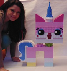 Me and Unikitty (Melan-E) Tags: pink lego kitty unicorn lug afol breakfasttelevision godihatepink unikitty torolug thelegomovie