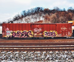 Manchester Rail Yard - Pittsburgh, PA (JayCass84) Tags: street camera urban beautiful car train photography photo nikon flickr track pittsburgh pennsylvania awesome traintracks tracks streetphotography rail trains explore railcar traintrack flick pgh streetview urbanstreetphotography railtracks urbanphotography 412 railtrack burgh steelcity vsco d5100 instagram instagramapp nikond5100 vscocam vscocamapp