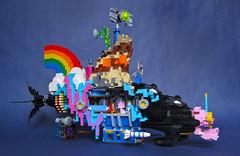 """We Can Make a Bat-submarine (Patent Pending)"": LEGO Movie Submarine Side View (Imagine) Tags: lego benny rainbows emmet wyldstyle vitruvius cloudcuckooland unikitty imaginerigney micromanagers thelegomovie legomoviesubmarine"