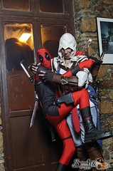 Awesome in-character Deadpool cosplay and co. cosplay at Akai Panda's Carnival Cosplay Party (SpirosK photography) Tags: party portrait game bar cafe pub play photoshoot cosplay videogame marvel marvelcomics marveluniverse videogamecharacter costumeplay antihero incharacter deadpool ostria πάρτυ assassinscreed eksarheia εξάρχεια μπαρ cosplayparty cosplayevent eksarhia καφε όστρια