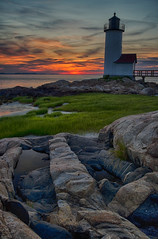 Every good painter paints what he is... (ferpectshotz) Tags: light sunset sky lighthouse colors boston massachusetts north newengland east rockformations annisquam