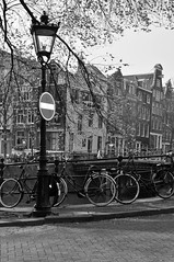 Amsterdam #6 (viruSha.) Tags: street holland love amsterdam bike landscape canal photo strada streetlamp bikes april aprile sha nederlands amore olanda canale prohibition lampione divieto 2014 paesibassi