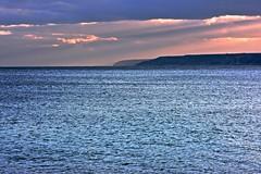 ray of light (december.light) Tags: blue light sea sky italy storm weather clouds boat fisherman nikon barca nuvole castro salento puglia adriatic apulia pescatori d5200 sigma85mmf14
