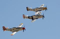 Bremont Horsemen (linda m bell) Tags: california airport aircraft airshow socal mustang february warbird chino p51 2014 planesoffame aerobaticteam doubletroubletwo fragilebutagile bremonthorsemen