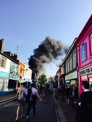 Blazing Argus Lofts,Brighton #argus lifts,#Argus #Brighton fire #flames furious angry flames #smoke #smoky #sad #devastating #firefighters #water #heat #black #red #crowds (karen_whitehead.t21) Tags: red black water brighton sad smoke flames heat smoky crowds firefighters argus devastating