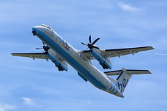 Flybe Bombardier Dash 8 Q400, AMS (Silent.91) Tags: netherlands amsterdam plane airplane nikon exterior aircraft aviation off take takeoff schiphol ams spotting dash8 avia bombardier eham flybe q400  dhc8 polderbaan  dh8d d5200 gecoe