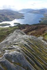 view from Ben A'an (Sean Munson) Tags: mountain lake water rock scotland highlands hiking depthoffield loch trossachs scottishhighlands lochkatrine queenelizabethforestpark benaan