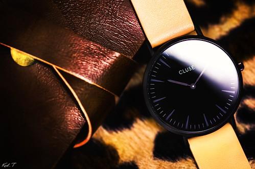 watch cluse cuir vintage studio light flash pub produit... (Photo: Karl.T - Photographie on Flickr)
