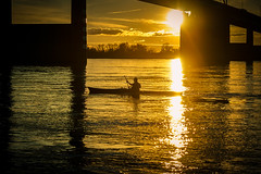 Kayak on the Mississippi River (tmalone893) Tags: sunset river mississippi memphis water kayak sony alpha6500 6500 a6500 golden reflectoin silouette