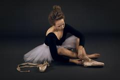 Ballerina (Marc Sabat) Tags: balet ballet ballerina balerina dance baletka pointe shoe shoes satin ribbons sole leather tutu