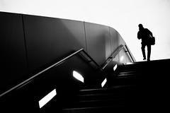 Step Down (Marco Nürnberger) Tags: stairs sonyrx100ii munich bw bmwworld street