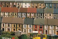Terraced Housing Rhondda Valley Wales (mrsris) Tags: postcard houses wales terracedhouses rhonddavalley