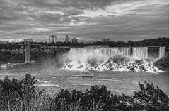 Niagara Falls (cmfgu) Tags: niagarafalls ontario canada waterfall americanfalls niagarariver hdr highdynamicrange bw blackandwhite monochrome niagaragorge bridalveilfalls newyork craigfildesfineartamericacom art wall canvasprint framedprint acrylicprint metalprint woodprint greetingcard throwpillow duvetcover totebag showercurtain phonecase sale sell buy purchase gift craigfildes artist photographer photograph photo picture prints