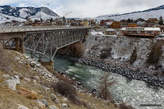 Bridge Over the Yellowstone (kevin-palmer) Tags: montana winter february cold snow snowy nikond750 tamron2470mmf28 gardiner yellowstoneriver flowing water cloudy overcast bridge