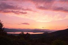 Sunset Colors by ioanna papanikolaou CSC_2637 (joanna papanikolaou) Tags: sunset sundown dusk nature sky clouds travel light prespes greece florina macedonia national park view hills mountains horizon