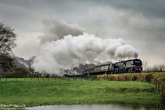 34092 48624 (chromaphoto.co.uk) Tags: elr eastlancsrailway buryburrs steam train engine water reflections 45212 52322 34092 48624 76084 black5 standard4mt 8f westcountry lyr class27