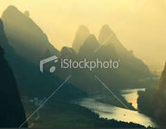 Guilin hills (MPBHAIBO) Tags: china morning summer cloud mist mountain reflection nature water colors fog sunrise river landscape dawn liriver asia dusk guilin yangshuo hill lijiang stormcloud cumulonimbus xingping colorimage ruralscene beautyinnature karstformation travellocations guangxiregion