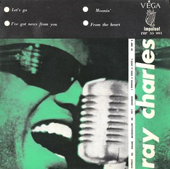 45 RPM - RAY CHARLES - A) Let's Go / I've Got News For You - B) Moanin / From The Heart - (EP IMPULSE FRANCE 1961)_A (MarkAmsterdam) Tags: music big 60s artist folk country band vinyl jazz blues 7 pop 45 retro cover 80s single soul orchestra muziek record 70s 50s trio singel sleeve 45rpm quartet quintet toeren septet nederpop