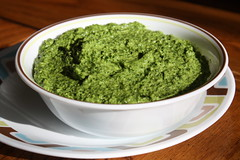 Spinach Pesto (Sarah B in SD) Tags: green dinner cook fresh eat homemade basil homecooking pesto spinach sooc