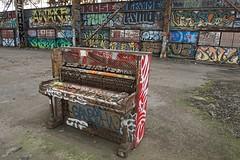 Warehouse #6 Details 5-2013 (daver6sf@yahoo.com) Tags: graffiti piano portofsanfrancisco abandonedbuilding warehouse6 graffitipiano