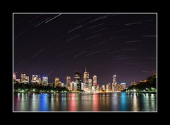 Brisbane City Star Trails (dtmateojr) Tags: longexposure night river stars cityscape pentax sigma brisbane 1770 startrails dtmateojr k5iis