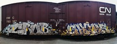 CROB x SHUKS (BeautifulVandalism) Tags: cn bench graffiti trains tags northdakota nd boxcar piece fargo railfan tanker middleofnowhere hoppers shuks crob moniker oiler crub grainer benching ndgraffiti northdakotagraffiti
